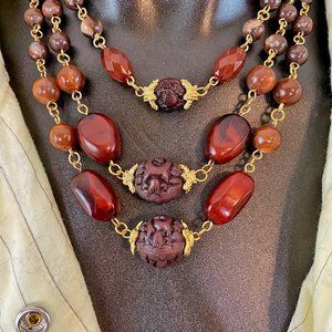 3 Tier Bohemian Beaded Necklace